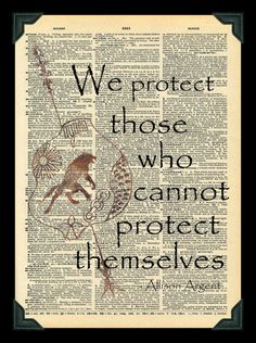 We Protect Those Allison Argent Quote Teen Wolf by Digiarttree
