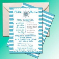 Una colección de invitaciones muy refrescante, invitaciones de boda marineras en Caracola. - Contenido seleccionado con la ayuda de http://r4s.to/r4s