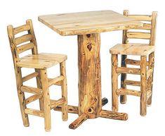 aspen stumpf pub table mountain holz mobel melden rustikale pub tisch und stuhlen stuhle
