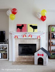 A dog party from theexperimentalhome.com