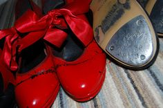 red tap shoes