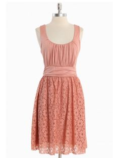 Lovely in peach, great fabric on the skirt.