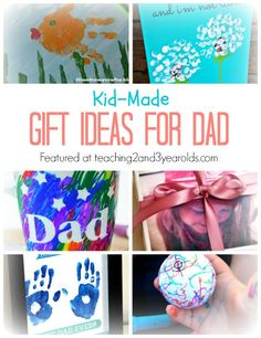 Easy and fun Father's Day gifts that toddlers and preschoolers can make. Dad will love them!