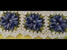 As Flores do Jogo de Capas de Crochê Para Cadeiras - Com Cristina Coelho...