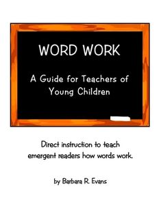 Guide for direct instruction on how words work by a Reading Recovery teacher. Child Teaching, Teaching Reading, Learning, Word Study, Word Work, Reading Recovery, Direct Instruction, Classroom Activities, Reading Activities
