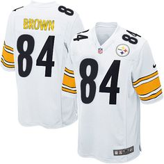 Nike Limited Mens Pittsburgh Steelers  84 Antonio Brown White NFL  Jersey 89.99 Pittsburgh Steelers Game 5e166b9693