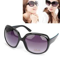Liquid With Black Frame Fashion Big Frame Design Plastic #Sunglasses  www.asujewelry.com