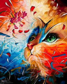 Cat Diy Paint By Numbers Kits,Paint By Number Kit is the easiest way to create stunning artwork. Create a unique painting by choosing a color combination that will make it stand out.It is the perfect first step for beginners to enjoy the art of painting. Cross Paintings, Original Paintings, Art Original, Cat Embroidery, Cat Posters, Cat Colors, Diamond Art, 5d Diamond Painting, Arte Pop