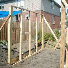 This is a brief guide on how I took some old windows from houses they where tearing down in my neighborhood and turned them into a small greenhouse in my back yard. Window Greenhouse, Cheap Greenhouse, Backyard Greenhouse, Greenhouse Wedding, Greenhouse Plans, Pallet Greenhouse, Homemade Greenhouse, Backyard Patio, Old Window Projects