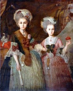 An unknown French woman in a tippet, with a bosom friend (the human kind), 1770s