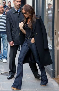 Victoria Beckham Wide Leg Jeans [ Waterbabiesbikini.com ] #fashion #bikini #elegance
