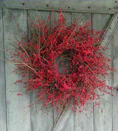 Winterberry holly wreath