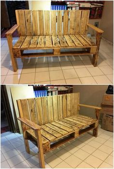 These days the trend of keeping the pallet bench with the variation of the simplicity and stylishness is somehow comes out to be the ultimate choices in almost all the houses. Right through this image, you will be happening to see the ideal use of the wood pallet in bench approachable work.