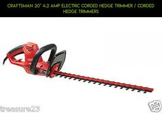 """Craftsman 20"""" 4.2 Amp Electric Corded Hedge Trimmer / Corded Hedge Trimmers #drone #hedge #technology #racing #kit #fpv #shopping #camera #products #gadgets #trimmers #parts #tech #electric #plans"""