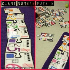 Giant NUMBER puzzle for math centers!  Perfect for number recognition, number order and counting to 20!