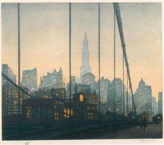 "Tavik Frantisek Simon, ""Brooklyn Bridge, New York"" (1927)"
