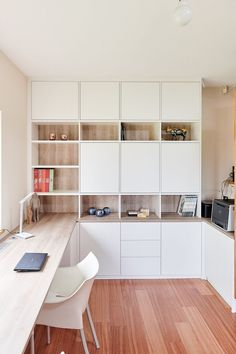 Home Office Space, Home Office Design, Home Office Decor, House Design, Home Decor, Bedroom With Office, Home Office Shelves, Home Office Cabinets, Design Design