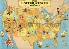 United States Map Colton Map Of United States Large Vintage - 13 original us states map