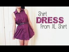 ▶ DIY ✂ Shirt Dress from Men's Shirt (Easy Reconstruction) - YouTube