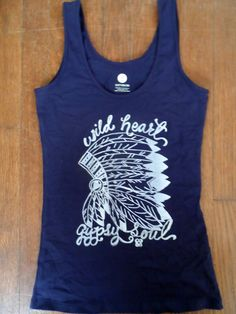 Wild Heart/Gypsy Soul Printed Tank by TwinFlameYogaLove on Etsy, $20.00