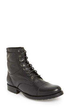 Frye 'Erin' Cap Toe Leather Lace-Up Boot (Women) available at #Nordstrom