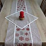 Úžitkový textil - Režné Vianoce rozsypané bodky - obrúsok štvorec 40x40 - 7323493_