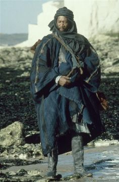 Morgan Freeman en Robin Hood (1991) como guerrero sarraceno de la Tercera Cruzada