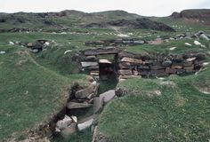 Brattahlid, Greenland - Remnants of a Viking settlement