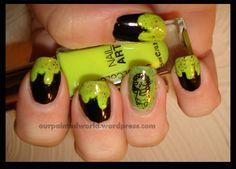 Zombie nail art.