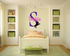 Horse Wall Vinyl Girl Bedroom Decal Name by PacificBeachBoutique, $19.00