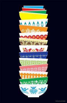 Pocono Modern — Vintage Pyrex Poster