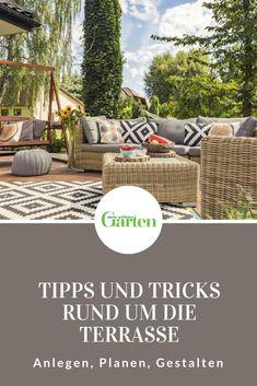 Die Terrasse Ist Für Viele Der Platz Im Garten, An Dem Sie Sich Am  Häufigsten