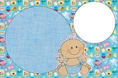 Chá de Bebê Nascimento Menino Bebê Fofinho - Kit Completo com molduras para convites, rótulos para guloseimas, lembrancinhas e imagens!