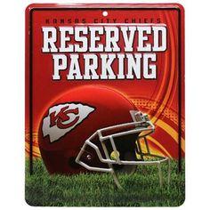 Kansas City Chiefs 8.5'' x 11'' Metal Reserved Parking Sign  @Fanatics ® #FanaticsWishList
