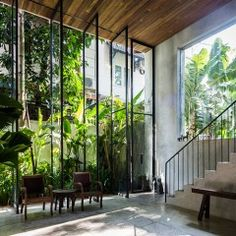 Thong House by Nishizawa Architects - This multi-storied family home in a new residential area in Ho Chi Minh City is the works of Japanese architect, Shunri Nishizawa of Nishizawa Architects. The main staircase acts as the home's spine running from the ground level to the rooftop garden where a stack of cubes are built around it, and large open spaces […]