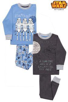 Modré pohodlné pyžamo Star Wars™, 2 ks (1,5-8 roky)