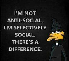 Daffy on anti-social Funny Cartoon Quotes, Funny True Quotes, Cartoon Jokes, Sarcastic Quotes, Funny Cartoons, Minions Quotes, Cartoon Characters, Memes Humor, Daffy Duck Quotes