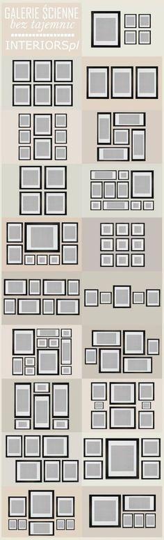 frames on the wall - decor - www.lapartiediva....