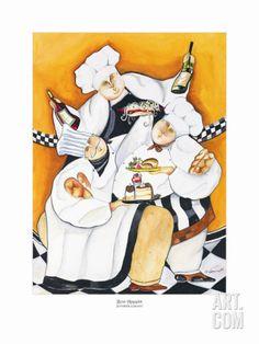 Bon Appetit Art Print by Jennifer Garant at Art.com