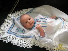 Christening - for later lol Ukrainian Dress, Ukrainian Art, Baby Boy Baptism, Baby Christening, Baby Dedication, Folk Fashion, My Heritage, Baby Pictures, Baby Names