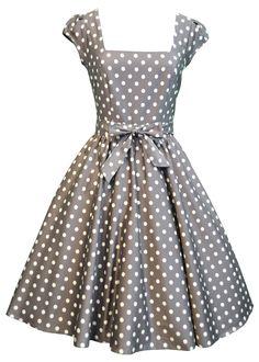 Mocha & White Polka Dot Swing Dress