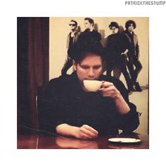 Patrick Stump sipping tea. Cute.