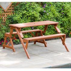 Picnic Table Avec bancs Set Amande outdoor camping randonnée portable table tabouret