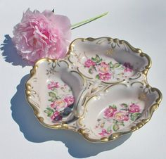 Vintage L'Amour Floral Hand Painted China Candy by BichenVintage, $26.00