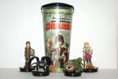 Cup topper How train your dragon Full set + collectible cup RAR How Train Your Dragon, Full Set, Cinema, Mugs, Tableware, Ebay, Collection, Movies, Dinnerware