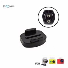 Proocam Pro-J121 1x Flat Buckle Universal 1/4inch Thread for Camera Tripod for Gopro Hero Action camera ,This part suitable for Gopro series outdoor sports camera For a fixed camera to a tripod, the self timer pole etc.Can take a more classic picture for yourself!We can easily realize the filming location transformation , The physical map, the bottom of threadThread size: standard size, 1/4 inch -20tpi (the number of threads per inch) SpecificationsThis part suitable for Gopro series o...