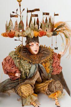 por PblCb Fairy World & Fantastic Creatures Keka❤❤❤ Marionette, New Dolls, Dolls Dolls, Painting Collage, Unusual Art, Assemblage Art, Little Doll, Doll Maker, Whimsical Art