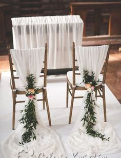 Newest No Cost Wedding decorations of the church – Bydgoszcz, Toruń, Inowrocław Cheap Wedding Decorations, Wedding Chair Decorations, Wedding Chairs, Simple Church Wedding, Church Weddings, Garden Weddings, Forest Wedding, Dream Wedding, Creative Decor