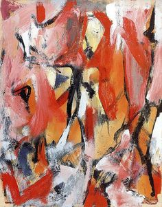 Untitled, 1950 Elaine de Kooning (1918-1989) was a student and later the wife of Willem de Kooning, Elaine de Kooning was an Abstract Expressionist, Figurative Expressionist painter in the post-World War II era and editorial associate for Art News magazine.