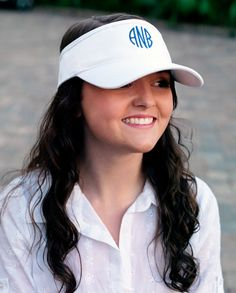 Stylish new visors now available at Common Threads. $8.95 (monogramming optional) https://www.etsy.com/listing/180235991/visor-custom-personalized-monogram?ref=shop_home_active_16